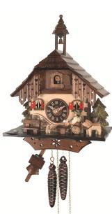 Engstler Pendule à coucou à quartz Maison de Forêt Noire EN 492 Q